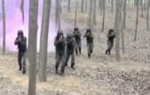 军事武警特战队模拟暴恐事件进行反恐应急演练