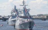 俄羅斯_海軍節閱兵彩排在圣彼得堡舉行