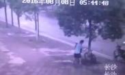 惊呆!一男子为偷盗自行车竟然把景观树给锯了