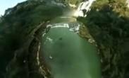 换个视角看黄果树瀑布 水瀑挂彩虹雄奇壮美