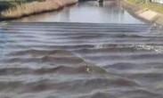 """实拍日本强震后现异象 河水""""逆流""""而上"""