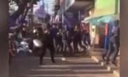 美团饿了么员工街头混战 几十人参与斗殴
