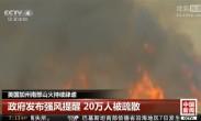 美国加州南部山火持续肆虐