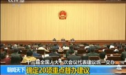 十三届全国人大一次会议代表建议统一交办 确定20项重点督办建议