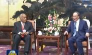王岐山会见坦桑尼亚前总理