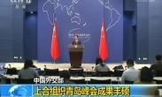 中国外交部:上合组织青岛峰会成果丰硕