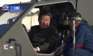 习近平登上武装直升机