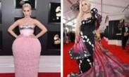 """格莱美红毯星光璀璨_Lady_Gaga银裙亮相水果姐变""""蛋糕"""""""