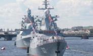俄罗斯_海军节阅兵彩排在圣彼得堡举行