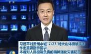 """习近平对贵州水城""""7·23""""特大山体滑坡灾害作出重要指示 要求本着对人民极端负责的精神强化灾害防范"""
