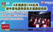 2月票房破122亿元_创中国电影市场单月票房新纪录