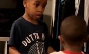弟弟眼看要开哭 小哥哥一招让他冷静