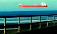"""魔幻场景!苏格兰红色大船""""天上飘"""""""