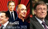 福布斯2021全球亿万富翁榜公布 多项纪录被刷新