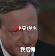 """英国前首相卡梅伦后悔举行""""脱欧""""公投对国家感到抱歉"""