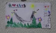 孙莉母亲节获两女儿送画像 多多与妹妹画风大不同