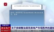 关于持续整治规范房地产市场秩序的通知