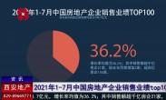 2021年1-7月中国房地产企业销售业绩top100